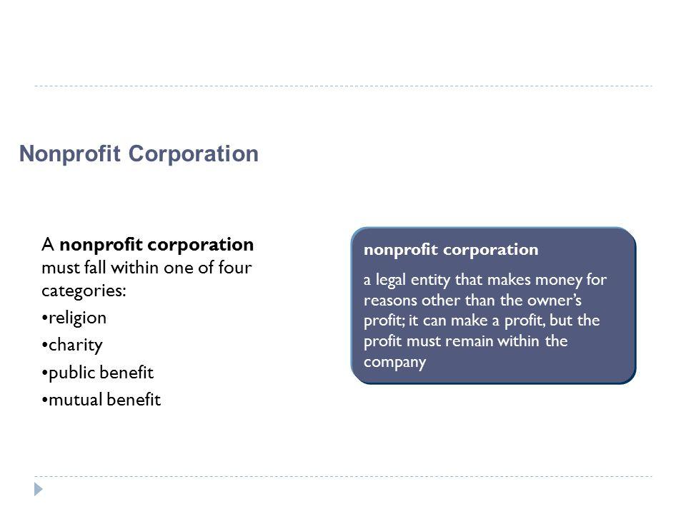 Nonprofit Corporation