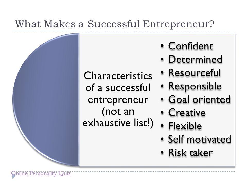 What Makes a Successful Entrepreneur