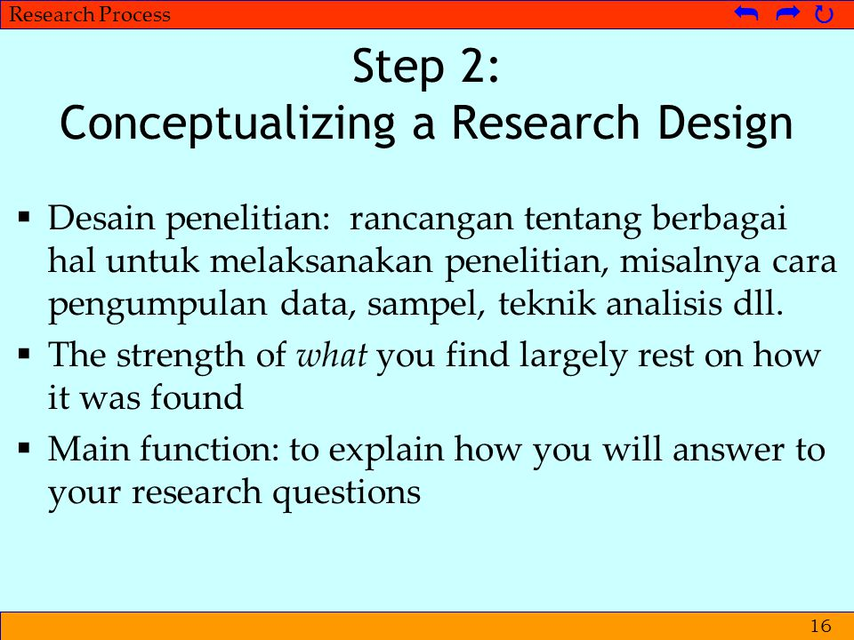 Step 2: Conceptualizing a Research Design