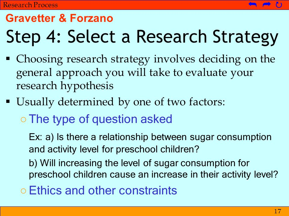 Step 4: Select a Research Strategy