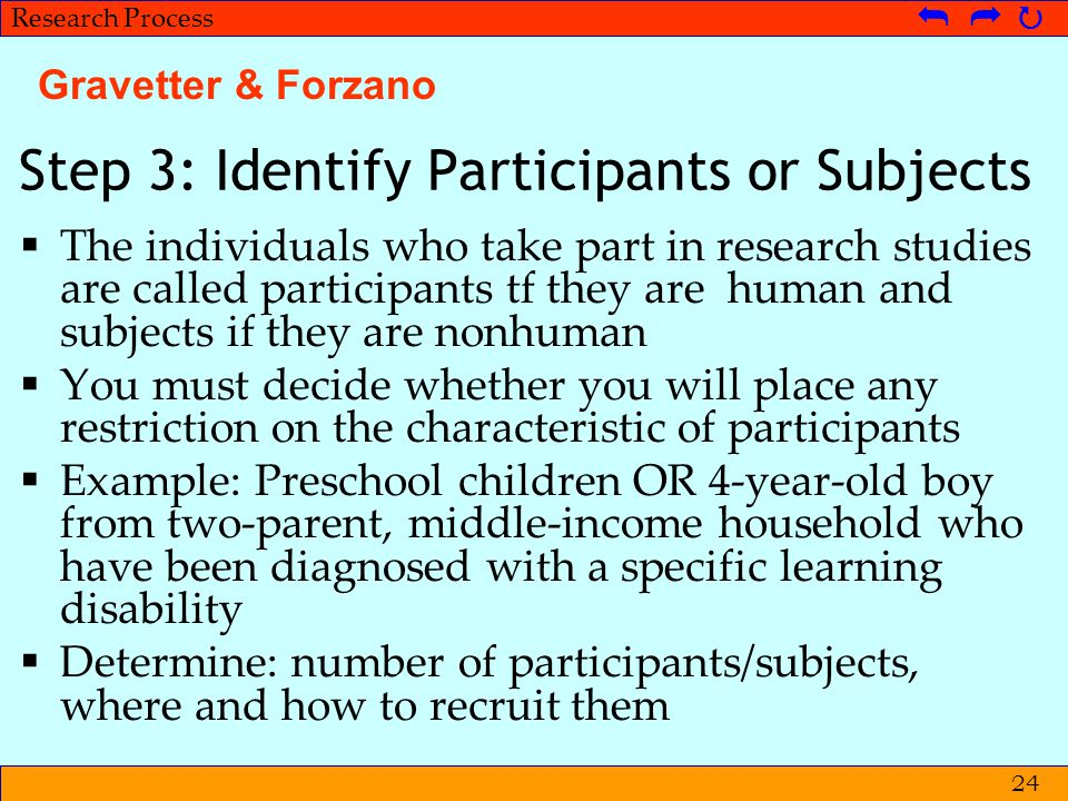 Step 3: Identify Participants or Subjects