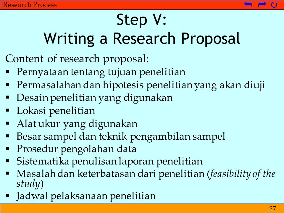 Step V: Writing a Research Proposal