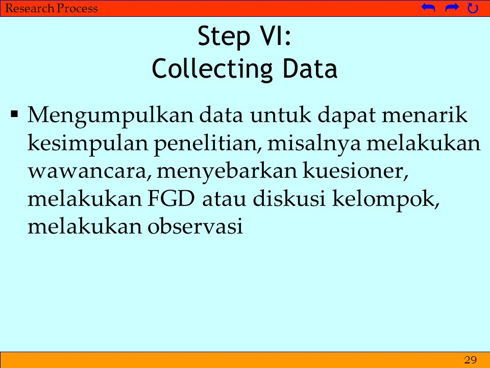 Step VI: Collecting Data