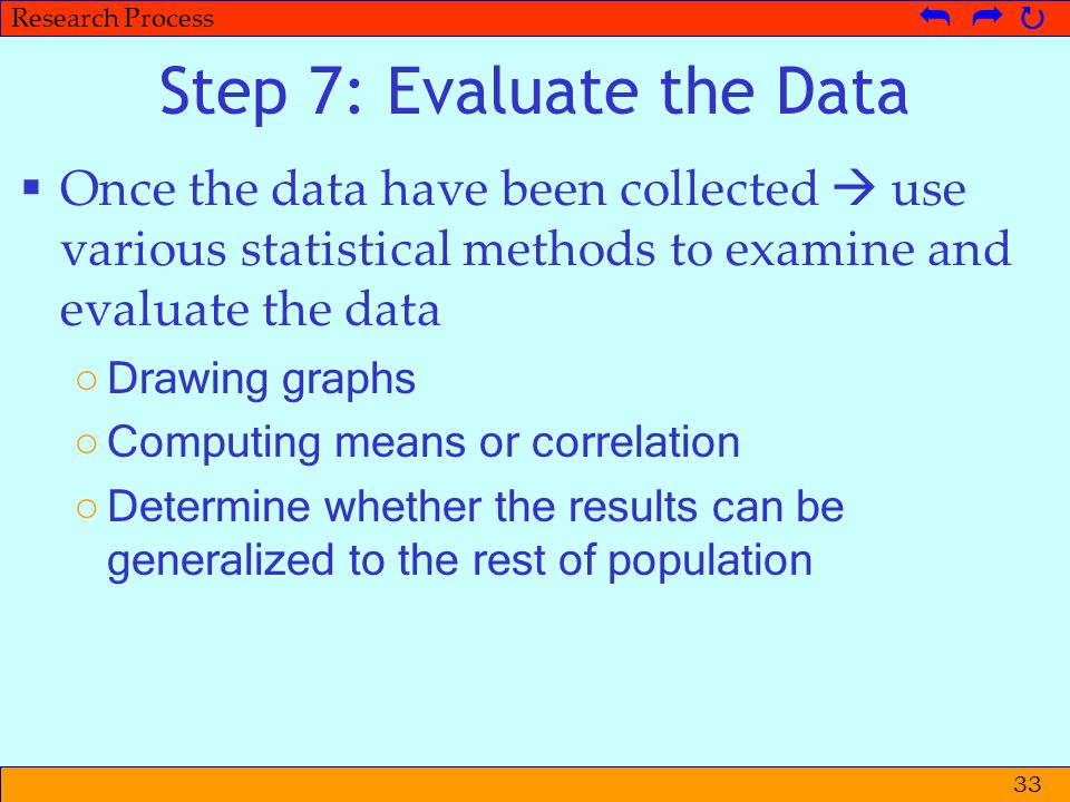 Step 7: Evaluate the Data