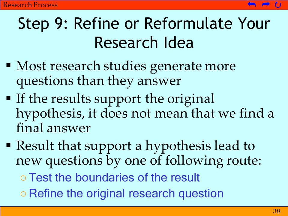 Step 9: Refine or Reformulate Your Research Idea