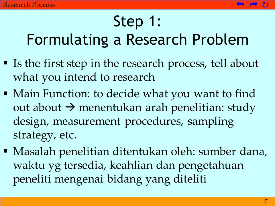 Step 1: Formulating a Research Problem