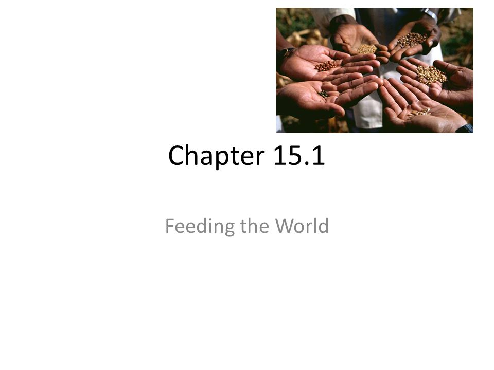 Chapter 15.1 Feeding the World