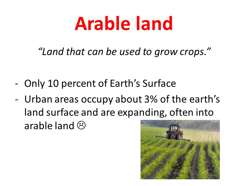 Land that can be used to grow crops.
