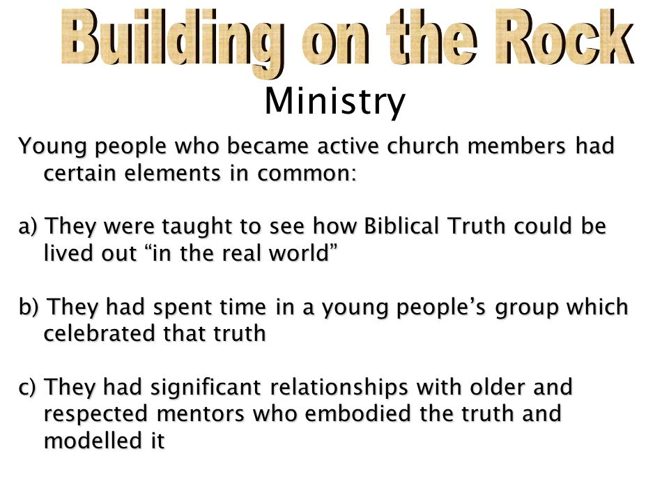 Building on the Rock Ministry