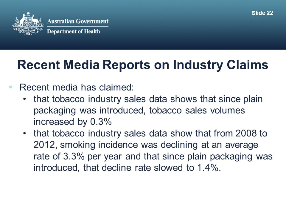 Recent Media Reports on Industry Claims