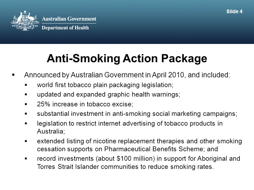 Anti-Smoking Action Package