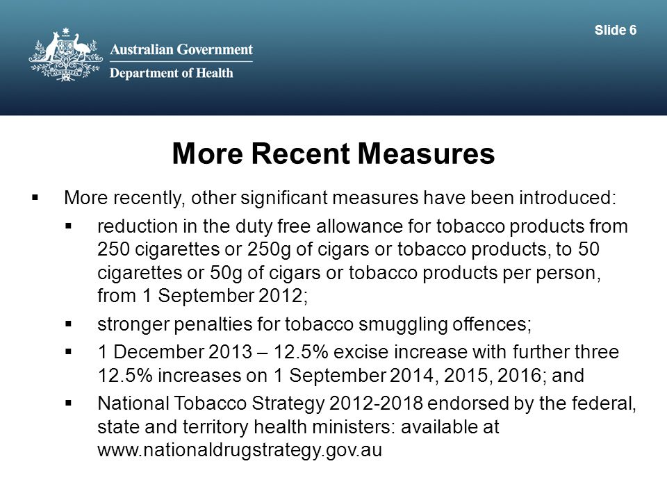 Slide 6 More Recent Measures. More recently, other significant measures have been introduced: