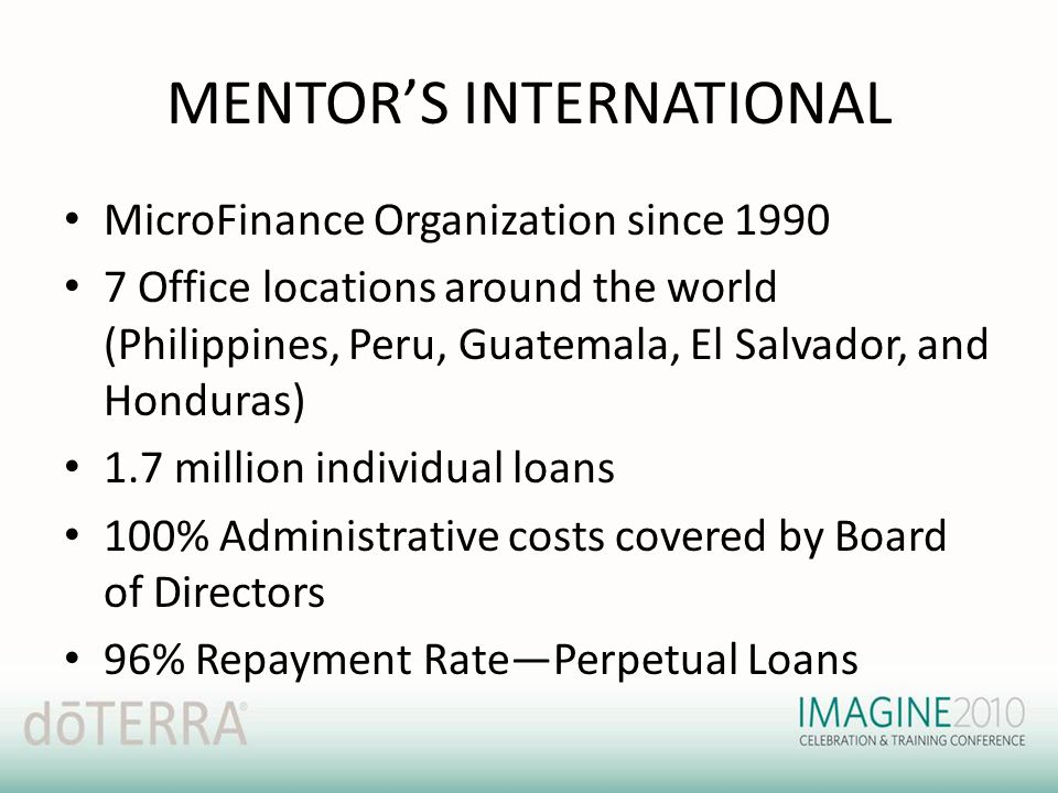 MENTOR'S INTERNATIONAL