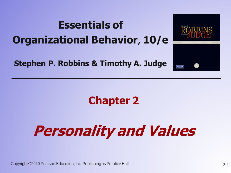 The values and characteristics demonstrated by