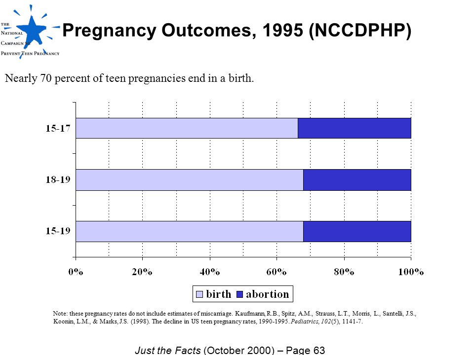 Pregnancy Outcomes, 1995 (NCCDPHP)