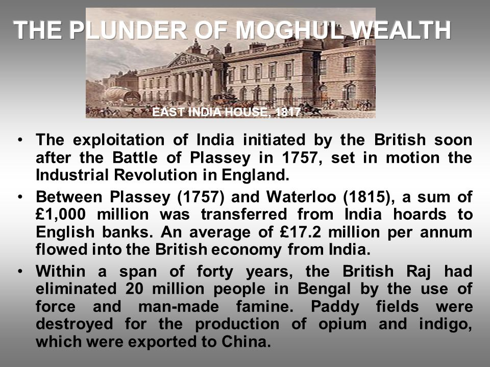 THE PLUNDER OF MOGHUL WEALTH
