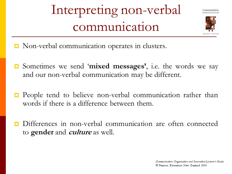 Interpreting non-verbal communication