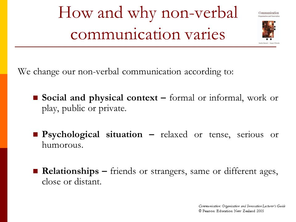 How and why non-verbal communication varies