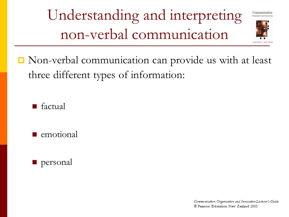 Understanding and interpreting non-verbal communication