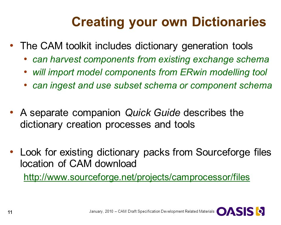 Creating your own Dictionaries