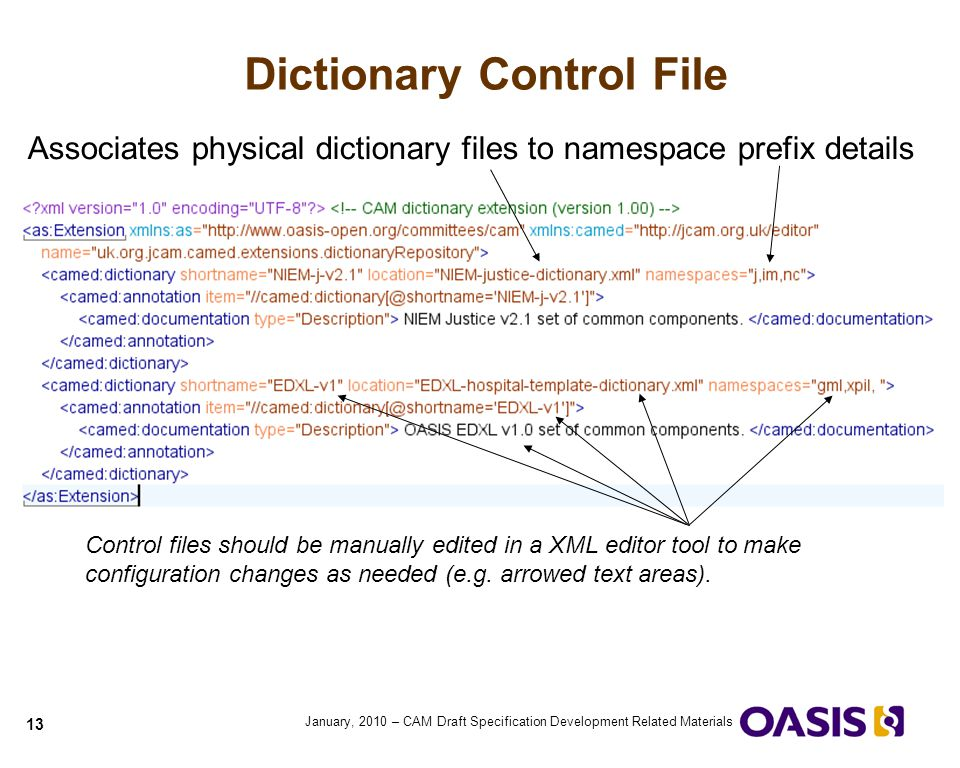 Dictionary Control File