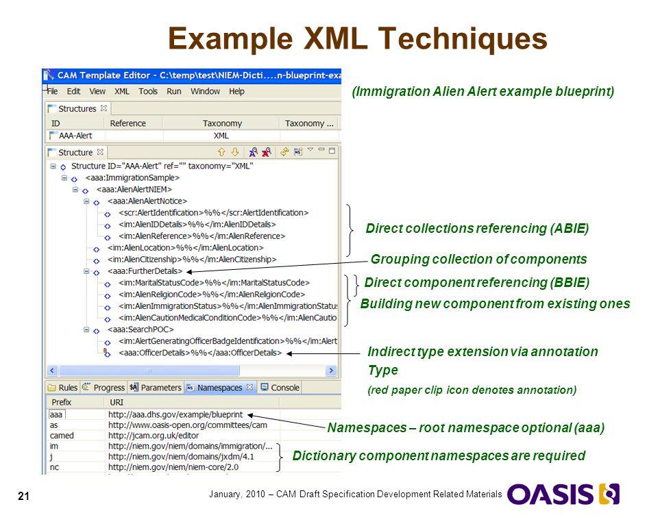 Example XML Techniques