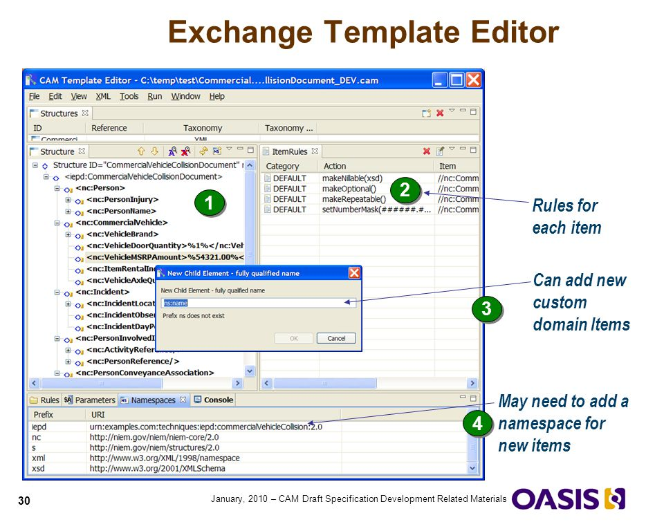 Exchange Template Editor