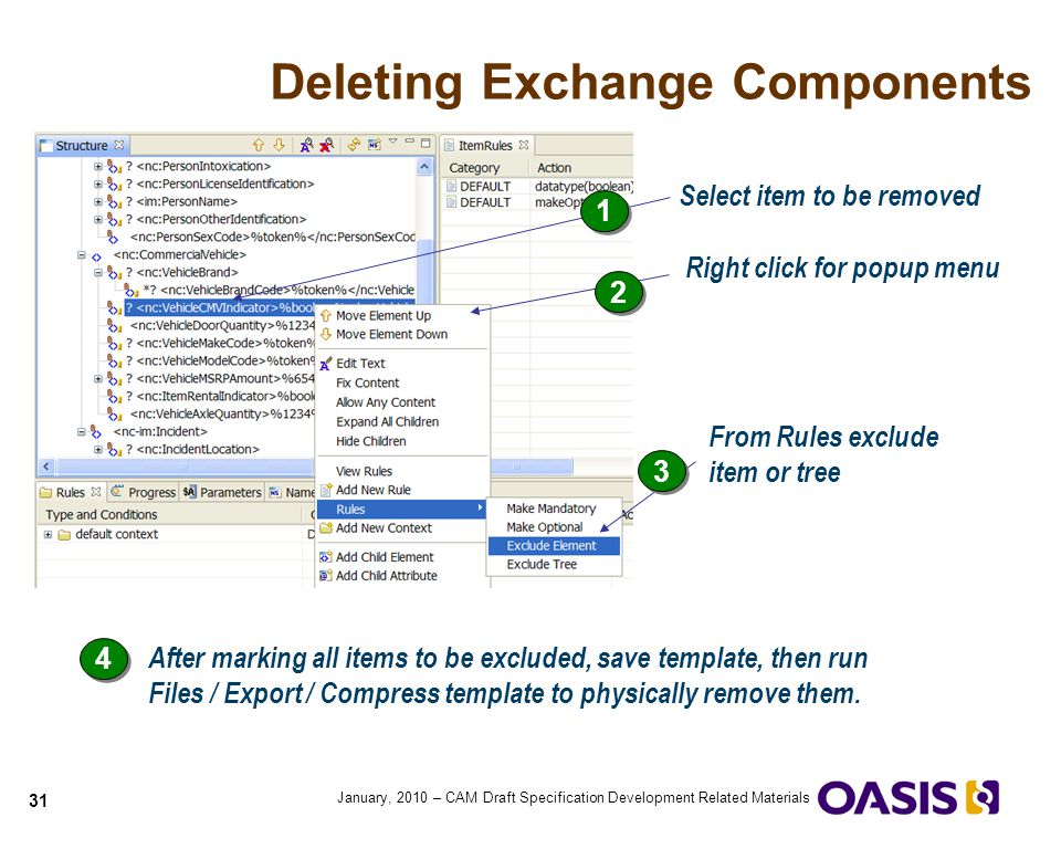 Deleting Exchange Components
