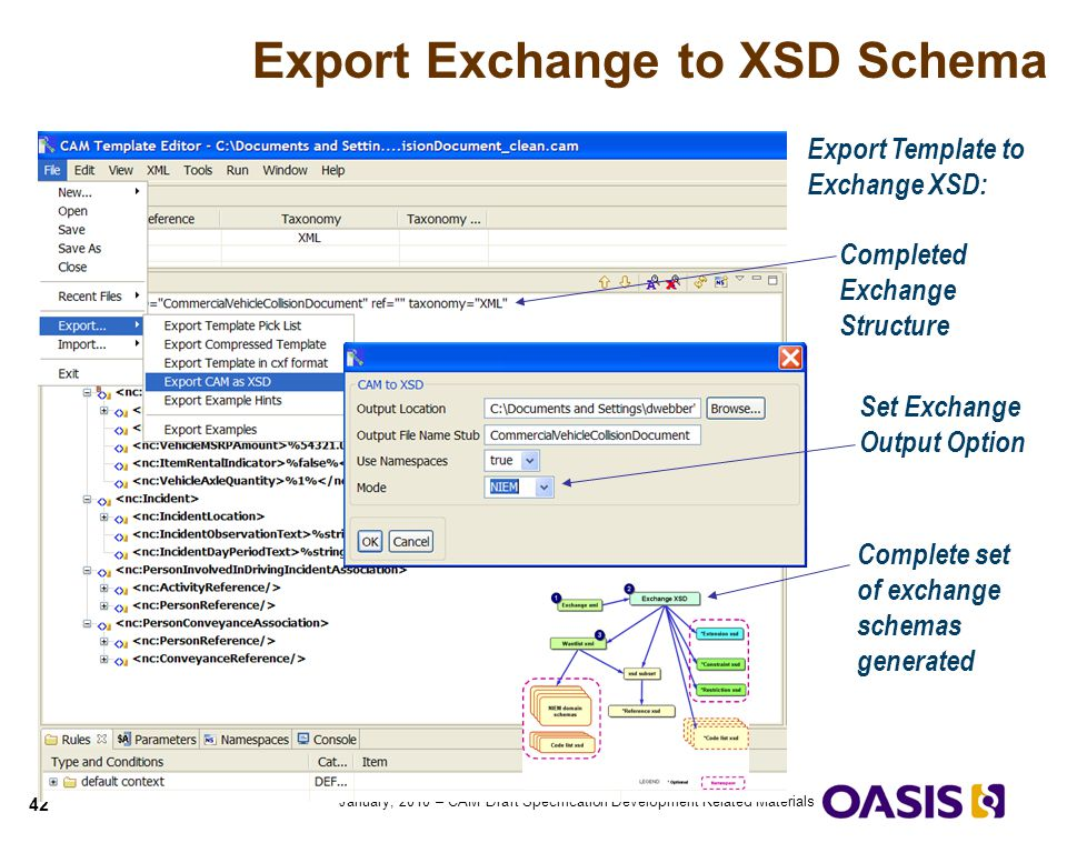 Export Exchange to XSD Schema