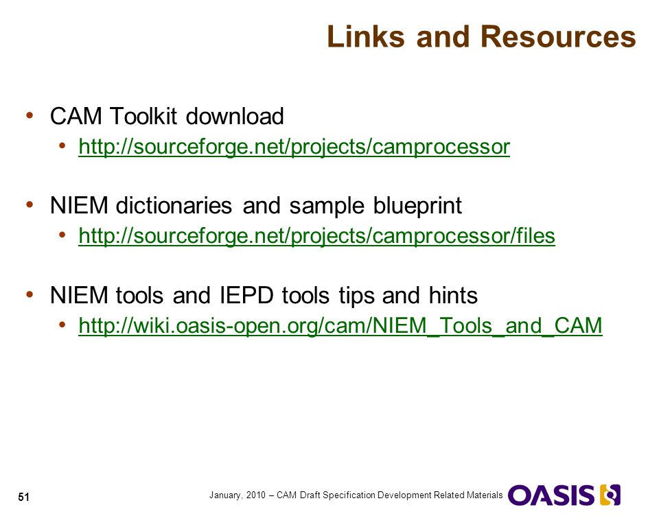Links and Resources CAM Toolkit download