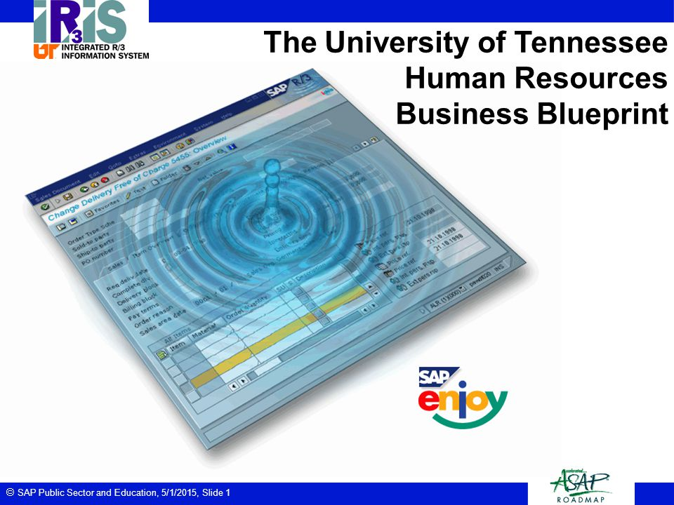 The university of tennessee human resources business blueprint ppt 1 the university of tennessee human resources business blueprint malvernweather Choice Image