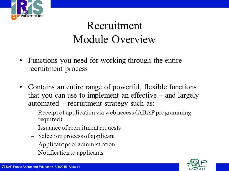 Recruitment Module Overview