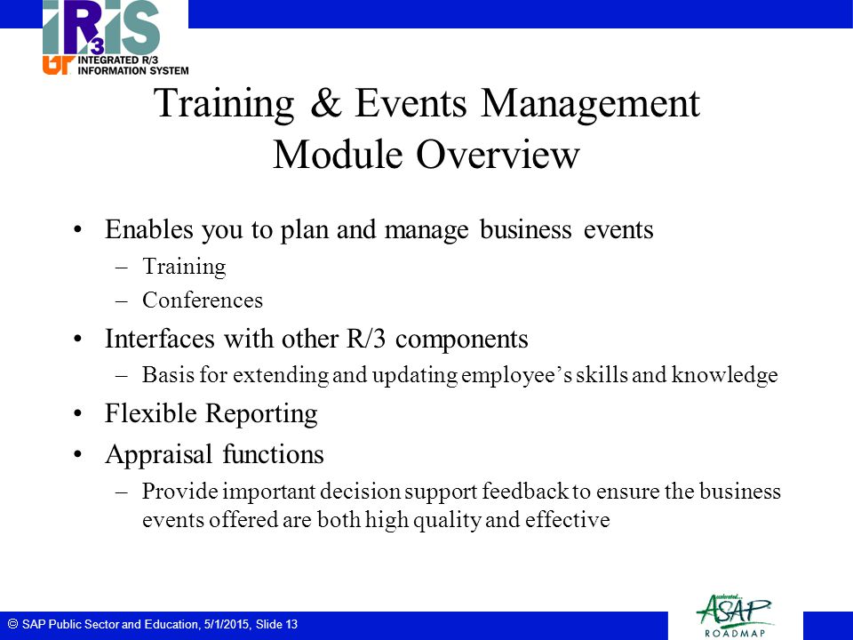 Training & Events Management Module Overview