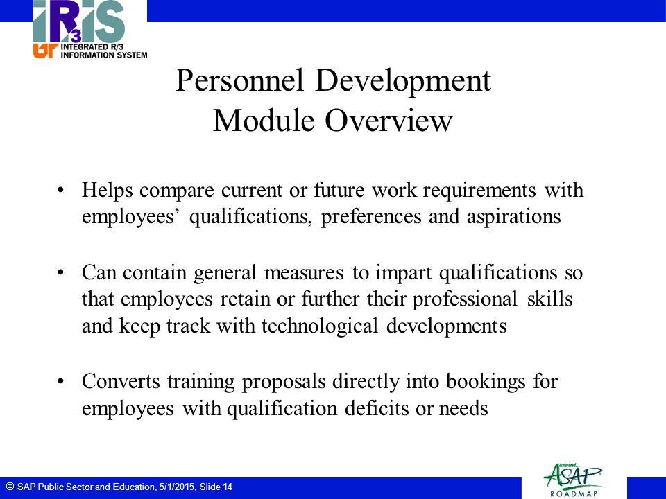 Personnel Development Module Overview
