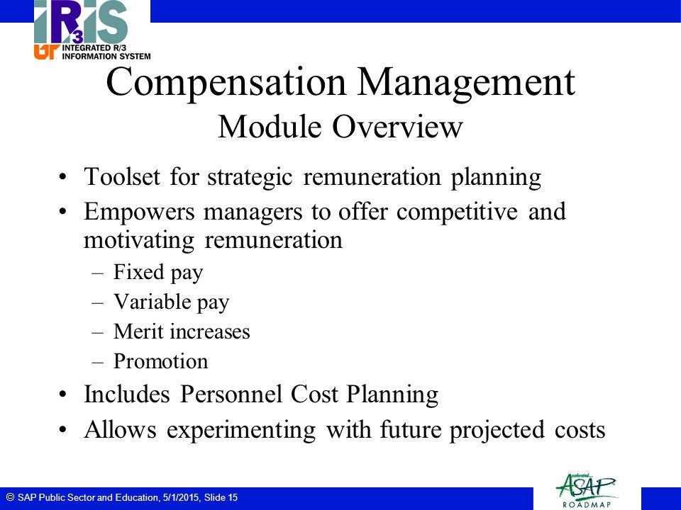 Compensation Management Module Overview