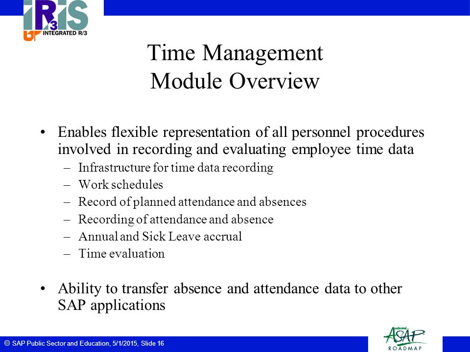 Time Management Module Overview