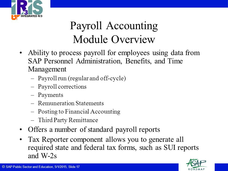 Payroll Accounting Module Overview