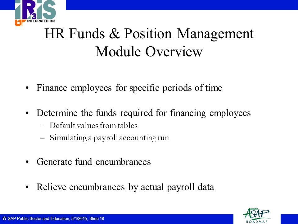 HR Funds & Position Management Module Overview