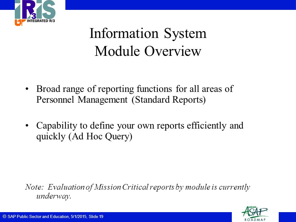 Information System Module Overview