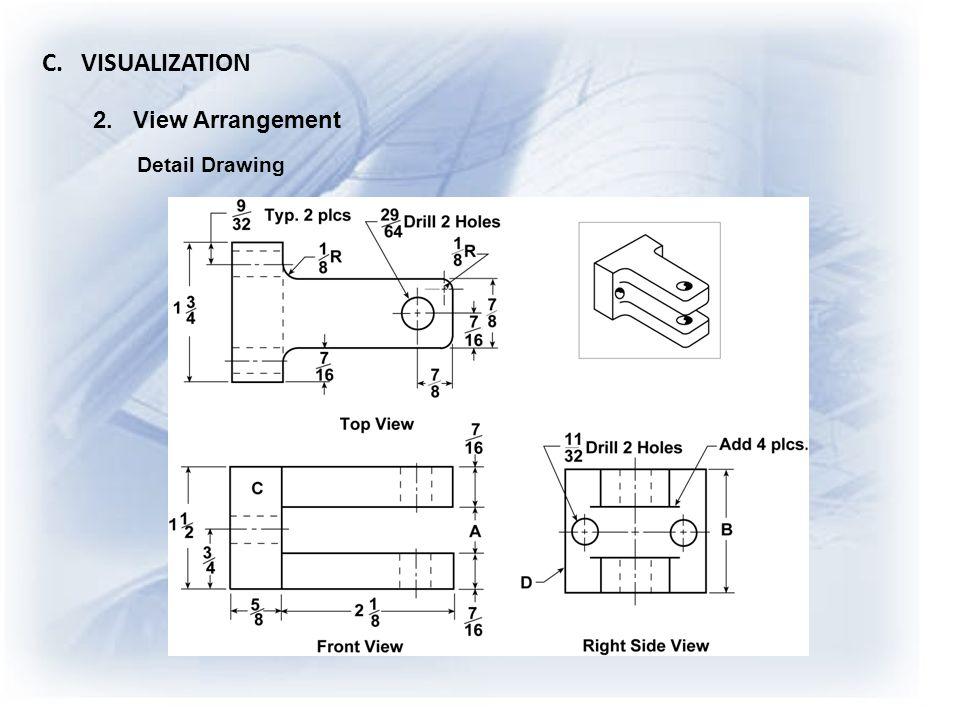 C. VISUALIZATION 2. View Arrangement Detail Drawing