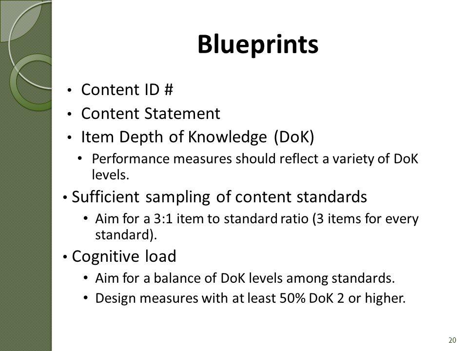 Blueprints Content ID # Content Statement