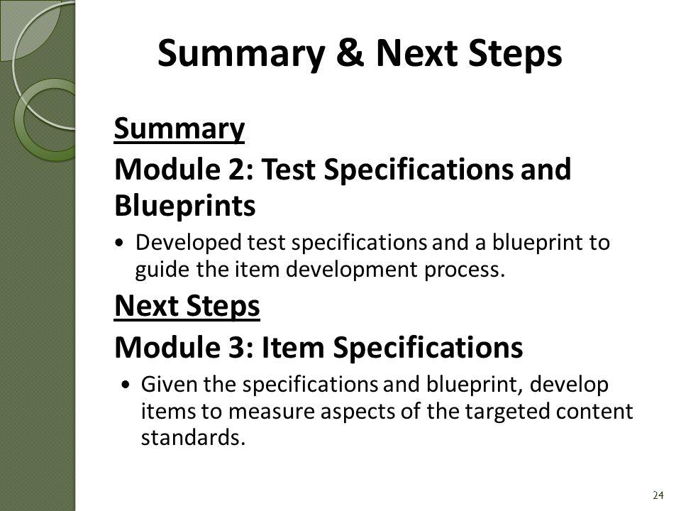 Summary & Next Steps Summary