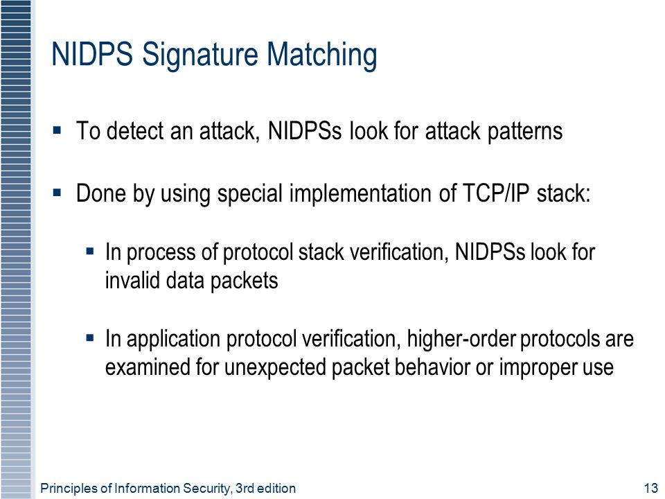 NIDPS Signature Matching