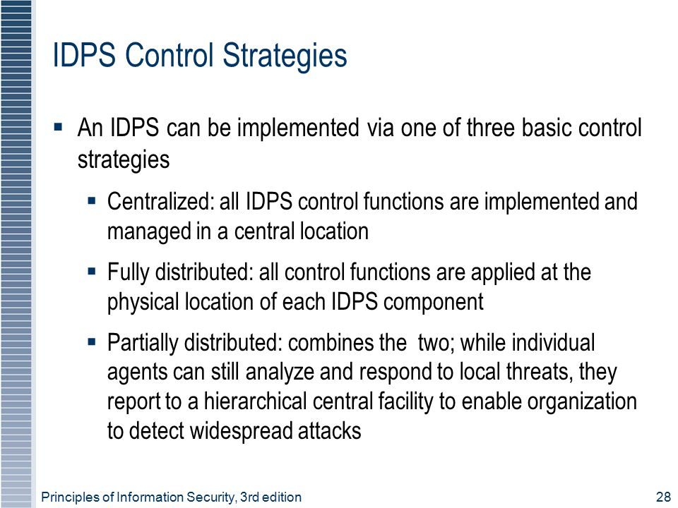 IDPS Control Strategies