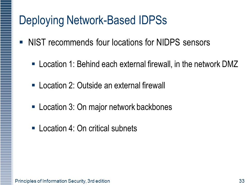 Deploying Network-Based IDPSs
