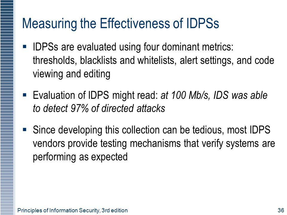 Measuring the Effectiveness of IDPSs