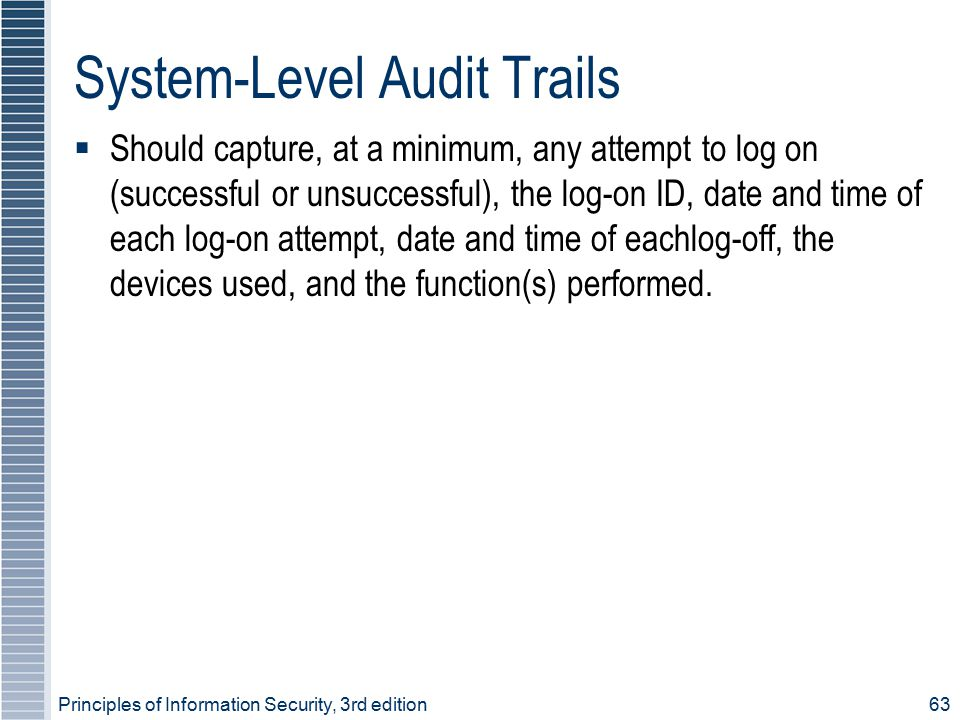 System-Level Audit Trails
