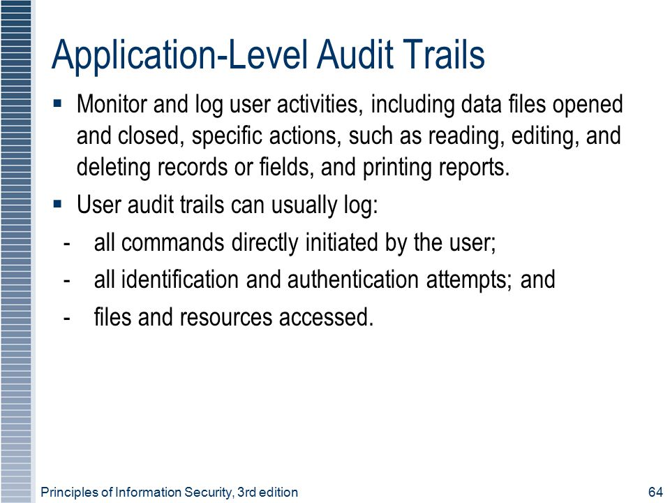 Application-Level Audit Trails