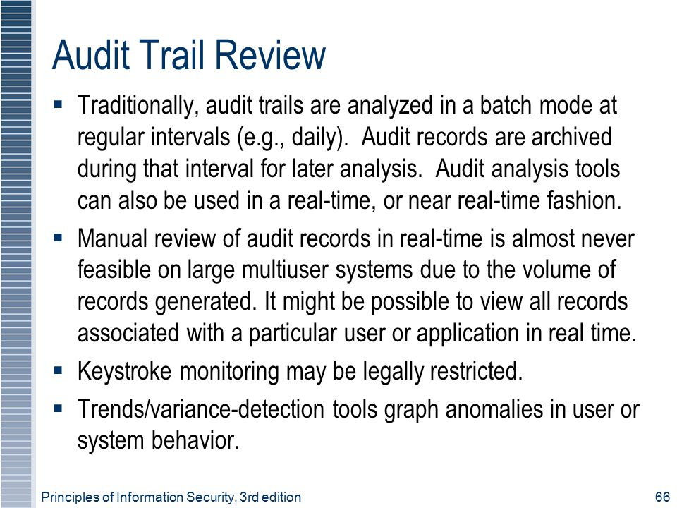Audit Trail Review
