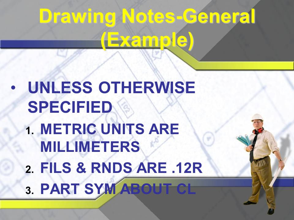 Reading technical drawings ppt video online download - General notes for interior design drawings ...